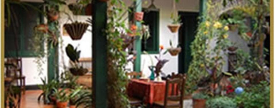 Jardin Interior. Fuente: hotelcasarealtunja.com